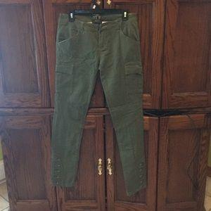 Denim - Army green jeans